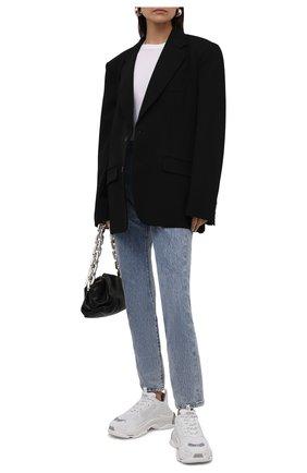 Женские комбинированные кроссовки triple s BALENCIAGA белого цвета, арт. 524039/W2FS4 | Фото 2 (Материал внутренний: Текстиль; Материал внешний: Текстиль, Экокожа; Подошва: Платформа)