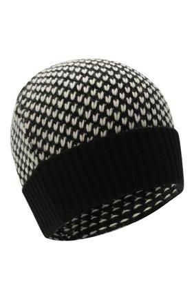 Женская кашемировая шапка KITON черно-белого цвета, арт. D52763X0479A | Фото 1 (Материал: Кашемир, Шерсть)