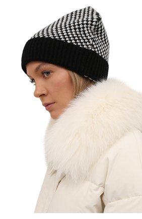Женская кашемировая шапка KITON черно-белого цвета, арт. D52763X0479A | Фото 2 (Материал: Кашемир, Шерсть)
