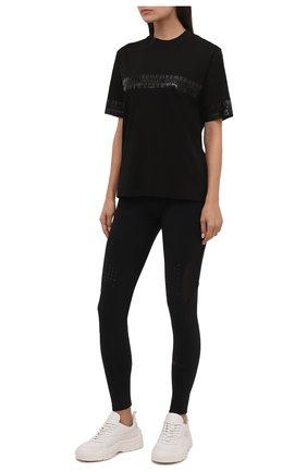 Женские леггинсы MONCLER черного цвета, арт. G2-093-8H000-01-899A6   Фото 2 (Материал внешний: Синтетический материал; Длина (брюки, джинсы): Стандартные; Стили: Спорт-шик; Женское Кросс-КТ: Леггинсы-одежда, Леггинсы-спорт)