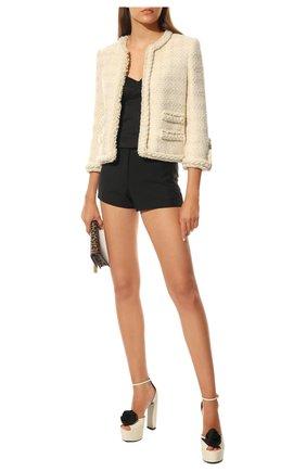 Женские кожаные босоножки jodie SAINT LAURENT черно-белого цвета, арт. 650344/1ZJ80 | Фото 2 (Подошва: Платформа; Материал внутренний: Натуральная кожа; Каблук высота: Высокий; Каблук тип: Устойчивый)
