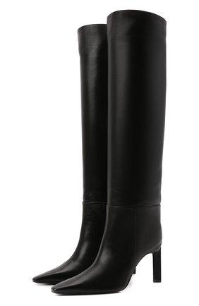 Женские кожаные сапоги vitto 85 THE ATTICO черного цвета, арт. 214WS104/L001 | Фото 1 (Каблук высота: Высокий; Материал внутренний: Натуральная кожа; Высота голенища: Высокие; Подошва: Плоская; Каблук тип: Шпилька)