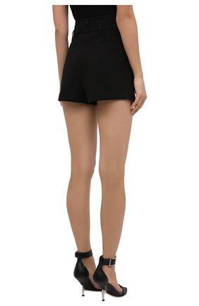 Женские юбка-шорты REDVALENTINO черного цвета, арт. WR0RFG25/5LB | Фото 4 (Женское Кросс-КТ: Шорты-одежда, юбка-шорты; Стили: Гламурный; Длина Ж (юбки, платья, шорты): Мини; Материал внешний: Синтетический материал)