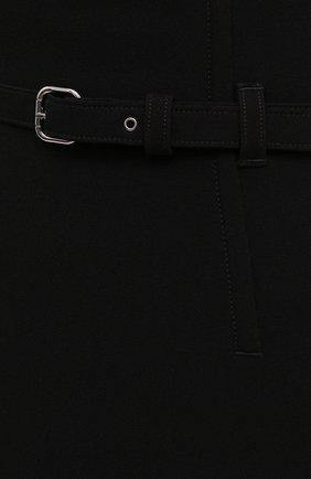 Женские юбка-шорты REDVALENTINO черного цвета, арт. WR0RFG25/5LB | Фото 5 (Женское Кросс-КТ: Шорты-одежда, юбка-шорты; Стили: Гламурный; Длина Ж (юбки, платья, шорты): Мини; Материал внешний: Синтетический материал)