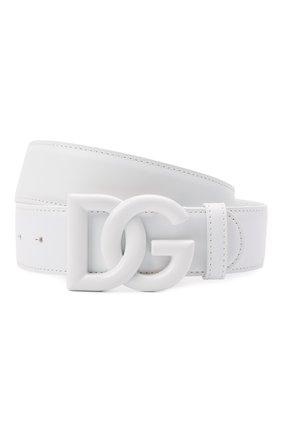 Женский кожаный ремень DOLCE & GABBANA белого цвета, арт. BE1446/AQ069   Фото 1