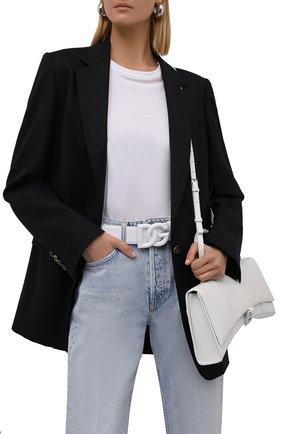 Женский кожаный ремень DOLCE & GABBANA белого цвета, арт. BE1446/AQ069   Фото 2