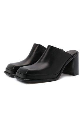 Женские кожаные мюли eldora MIISTA черного цвета, арт. MI_2985 | Фото 1 (Материал внутренний: Натуральная кожа; Каблук высота: Высокий; Подошва: Платформа; Каблук тип: Устойчивый)