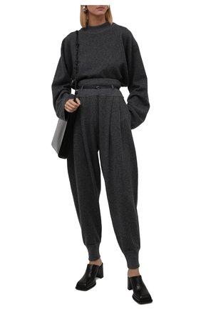 Женские кожаные мюли eldora MIISTA черного цвета, арт. MI_2985 | Фото 2 (Материал внутренний: Натуральная кожа; Каблук высота: Высокий; Подошва: Платформа; Каблук тип: Устойчивый)