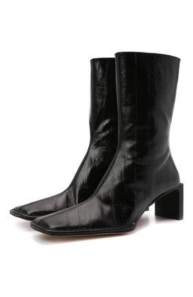 Женские кожаные ботильоны anitha anguilla MIISTA черного цвета, арт. MI_3444 | Фото 1 (Материал внутренний: Натуральная кожа; Подошва: Плоская; Каблук высота: Средний; Каблук тип: Устойчивый)