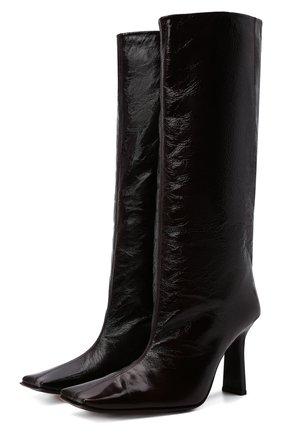 Женские кожаные сапоги corinne french roa MIISTA коричневого цвета, арт. MI_3473 | Фото 1 (Подошва: Плоская; Высота голенища: Средние; Каблук высота: Высокий; Материал внутренний: Натуральная кожа; Каблук тип: Устойчивый)