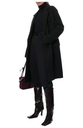Женские кожаные сапоги corinne french roa MIISTA коричневого цвета, арт. MI_3473 | Фото 2 (Подошва: Плоская; Высота голенища: Средние; Каблук высота: Высокий; Материал внутренний: Натуральная кожа; Каблук тип: Устойчивый)