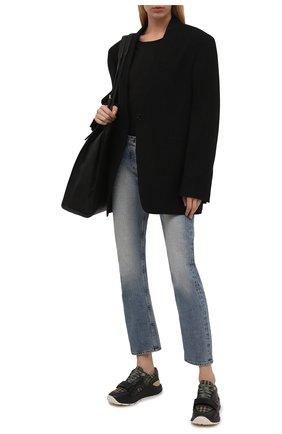 Женские комбинированные кроссовки ramsey l military BURBERRY хаки цвета, арт. 8042189 | Фото 2 (Материал внешний: Текстиль; Подошва: Платформа; Материал внутренний: Натуральная кожа)