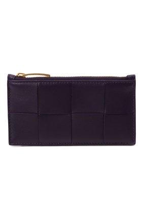 Женский кожаный футляр для кредитных карт BOTTEGA VENETA фиолетового цвета, арт. 667129/VCQC4 | Фото 1