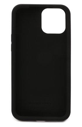 Чехол для iphone 12 pro max BOTTEGA VENETA черного цвета, арт. 670185/V0EY0   Фото 2