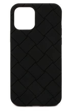 Чехол для iphone 12 BOTTEGA VENETA черного цвета, арт. 670188/V0EY0   Фото 1
