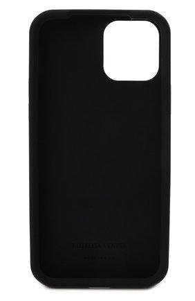 Чехол для iphone 12 BOTTEGA VENETA черного цвета, арт. 670188/V0EY0   Фото 2