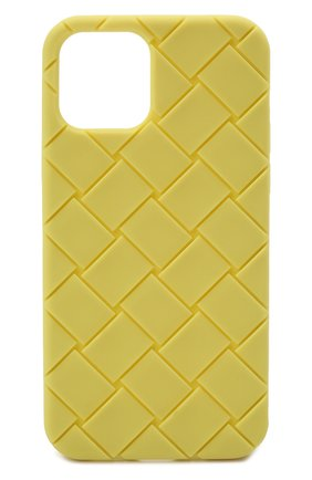 Чехол для iphone 12 BOTTEGA VENETA салатового цвета, арт. 670188/V0EY0   Фото 1