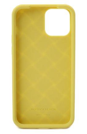 Чехол для iphone 12 BOTTEGA VENETA салатового цвета, арт. 670188/V0EY0   Фото 2