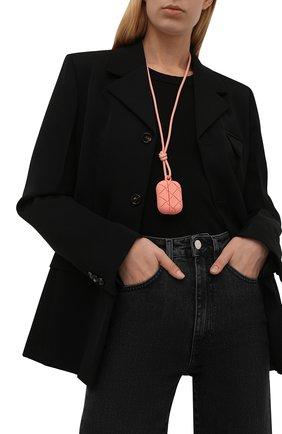 Чехол для airpods pro BOTTEGA VENETA розового цвета, арт. 670190/V0EY1   Фото 2