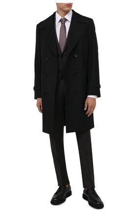 Мужские кожаные дерби BARRETT черного цвета, арт. BASTIA-006.15/CERV0 | Фото 2 (Материал утеплителя: Натуральный мех; Стили: Классический)