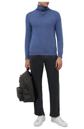 Мужской кашемировый свитер SVEVO тёмно-голубого цвета, арт. 01037SA21/MP01/2 | Фото 2 (Материал внешний: Шерсть, Кашемир; Мужское Кросс-КТ: Свитер-одежда; Принт: Без принта; Стили: Кэжуэл; Длина (для топов): Стандартные; Рукава: Длинные)