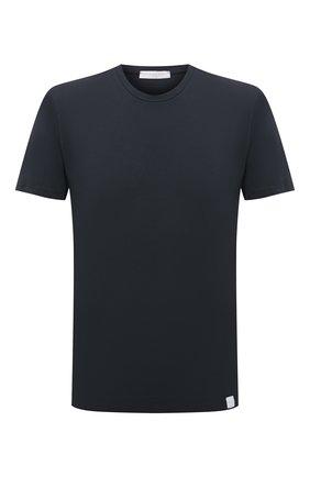 Мужская хлопковая футболка DANIELE FIESOLI темно-серого цвета, арт. DF 0627   Фото 1 (Материал внешний: Хлопок; Принт: Без принта; Рукава: Короткие; Стили: Кэжуэл; Длина (для топов): Стандартные)