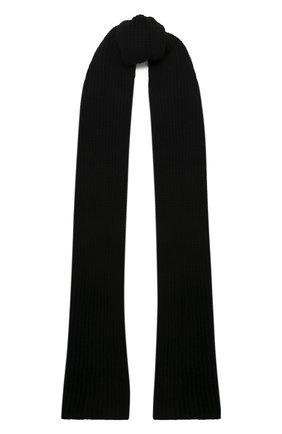 Мужской кашемировый шарф DANIELE FIESOLI черного цвета, арт. WS 7000   Фото 1 (Материал: Шерсть, Кашемир; Кросс-КТ: кашемир)
