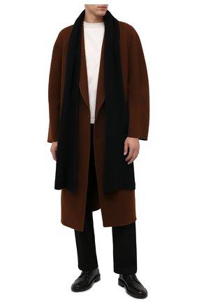 Мужской кашемировый шарф DANIELE FIESOLI черного цвета, арт. WS 7000   Фото 2 (Материал: Шерсть, Кашемир; Кросс-КТ: кашемир)