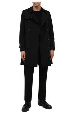 Мужские кожаные ботинки TOD'S черного цвета, арт. XXM04E0EF11T1C | Фото 2 (Материал утеплителя: Натуральный мех; Мужское Кросс-КТ: Ботинки-обувь, зимние ботинки, Байкеры-обувь; Подошва: Плоская)