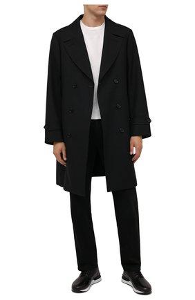 Мужские кожаные кроссовки ZILLI черного цвета, арт. MDW-T177/002 | Фото 2 (Материал внутренний: Текстиль; Подошва: Массивная; Стили: Классический)