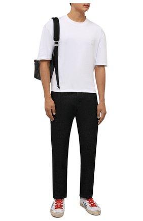 Мужские кожаные кеды steven PREMIATA белого цвета, арт. STEVEN/VAR5443 | Фото 2 (Подошва: Плоская; Материал внутренний: Натуральная кожа)