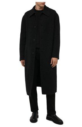 Мужские кожаные челси KENZO черного цвета, арт. FB55BT010L66 | Фото 2 (Материал внутренний: Натуральная кожа; Подошва: Плоская; Мужское Кросс-КТ: Сапоги-обувь, Челси-обувь)