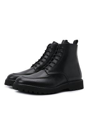 Мужские кожаные ботинки KENZO черного цвета, арт. FB55BT011L66 | Фото 1 (Подошва: Плоская; Материал внутренний: Натуральная кожа; Мужское Кросс-КТ: Ботинки-обувь)