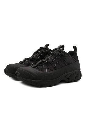 Мужские комбинированные кроссовки arthur BURBERRY темно-серого цвета, арт. 8042584 | Фото 1 (Подошва: Массивная; Материал внутренний: Натуральная кожа, Текстиль; Материал внешний: Текстиль; Стили: Гранж)