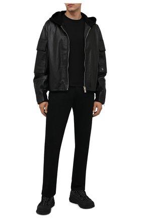Мужские комбинированные кроссовки arthur BURBERRY темно-серого цвета, арт. 8042584 | Фото 2 (Подошва: Массивная; Материал внутренний: Натуральная кожа, Текстиль; Материал внешний: Текстиль; Стили: Гранж)