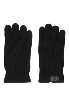 Мужские замшевые перчатки GIORGIO ARMANI черного цвета, арт. 744149/1A207 | Фото 2 (Мужское Кросс-КТ: Кожа и замша)
