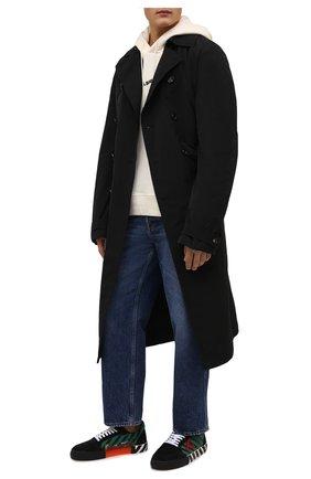 Мужские комбинированные кеды vulcanized OFF-WHITE черного цвета, арт. 0MIA085F21LEA0041025 | Фото 2 (Материал внутренний: Текстиль; Материал внешний: Текстиль; Подошва: Плоская)