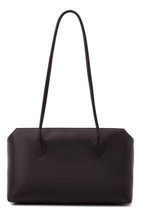 Женская сумка terrasse THE ROW темно-коричневого цвета, арт. W1292L97 | Фото 1 (Материал: Натуральная кожа; Размер: medium; Сумки-технические: Сумки top-handle)