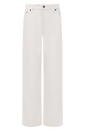 Женские джинсы THE ROW кремвого цвета, арт. 5915W1493   Фото 1 (Длина (брюки, джинсы): Стандартные; Материал внешний: Хлопок; Стили: Минимализм; Кросс-КТ: Деним; Силуэт Ж (брюки и джинсы): Прямые)