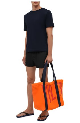 Мужская пляжная сумка VILEBREQUIN оранжевого цвета, арт. BSBC1137/195   Фото 2 (Материал: Текстиль)