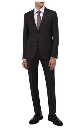 Мужские кожаные дерби BARRETT бордового цвета, арт. BASTIA-001.11/P0LISHED B | Фото 2 (Материал внутренний: Натуральная кожа; Стили: Классический; Мужское Кросс-КТ: Броги-обувь)