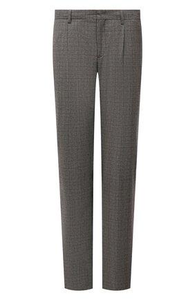 Мужские шерстяные брюки LORO PIANA серого цвета, арт. FAL9167 | Фото 1 (Материал подклада: Синтетический материал; Длина (брюки, джинсы): Стандартные; Материал внешний: Шерсть; Случай: Повседневный; Стили: Кэжуэл)