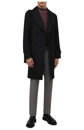 Мужские шерстяные брюки LORO PIANA серого цвета, арт. FAL9167 | Фото 2 (Материал подклада: Синтетический материал; Длина (брюки, джинсы): Стандартные; Материал внешний: Шерсть; Случай: Повседневный; Стили: Кэжуэл)
