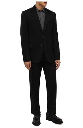 Мужские кожаные дерби DOUCAL'S темно-синего цвета, арт. DU1270DAK0PT019NB00 | Фото 2 (Материал внутренний: Текстиль, Натуральная кожа; Стили: Классический; Мужское Кросс-КТ: Броги-обувь)