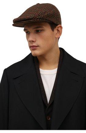 Мужская шерстяное кепи DSQUARED2 коричневого цвета, арт. HAM0036 01W04523 | Фото 2 (Материал: Шерсть)