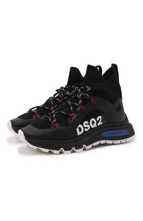 Мужские текстильные кроссовки ds2 DSQUARED2 черного цвета, арт. SNM0209 59204353 | Фото 1 (Подошва: Массивная; Материал внутренний: Натуральная кожа, Текстиль; Материал внешний: Текстиль; Стили: Гранж)