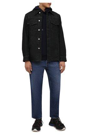 Мужские текстильные кроссовки ds2 DSQUARED2 черного цвета, арт. SNM0209 59204353 | Фото 2 (Подошва: Массивная; Материал внутренний: Натуральная кожа, Текстиль; Материал внешний: Текстиль; Стили: Гранж)