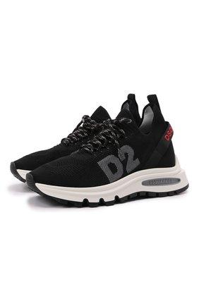 Мужские текстильные кроссовки ds2 DSQUARED2 черного цвета, арт. SNM0211 59204353 | Фото 1 (Материал внутренний: Текстиль, Натуральная кожа; Подошва: Массивная; Материал внешний: Текстиль; Стили: Гранж)