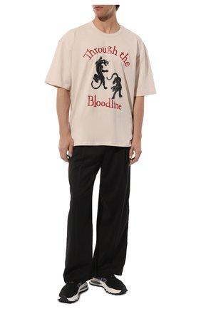 Мужские текстильные кроссовки ds2 DSQUARED2 черного цвета, арт. SNM0211 59204353 | Фото 2 (Материал внутренний: Текстиль, Натуральная кожа; Подошва: Массивная; Материал внешний: Текстиль; Стили: Гранж)