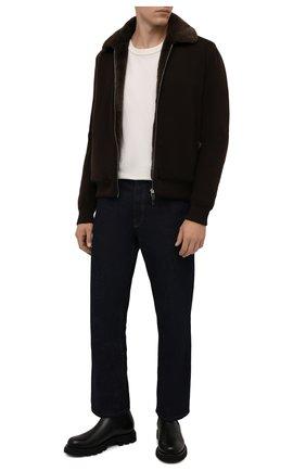 Мужской кашемировый бомбер с меховой подкладкой SVEVO коричневого цвета, арт. 0142SA21/MP01/2 | Фото 2 (Материал внешний: Шерсть, Кашемир; Рукава: Длинные; Длина (верхняя одежда): Короткие; Кросс-КТ: Куртка; Мужское Кросс-КТ: шерсть и кашемир, утепленные куртки; Принт: Без принта; Стили: Кэжуэл)